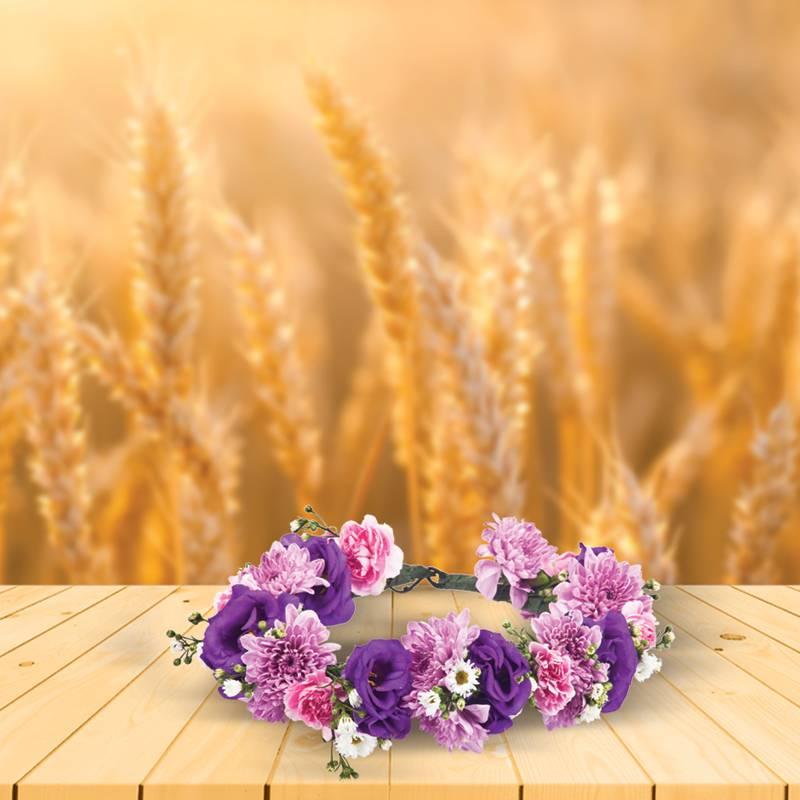 המראה הכפרי לכבוד שבועות- זרי פרחים לראש