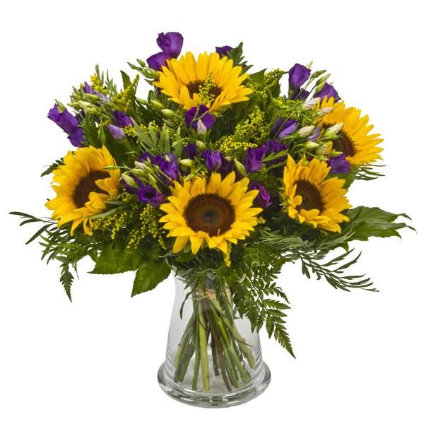 התמונה הראשית של זר פרחים - פריחה בסגול צהוב