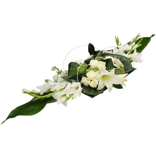 התמונה הראשית של סידור פרחים  - לבן בשולחן
