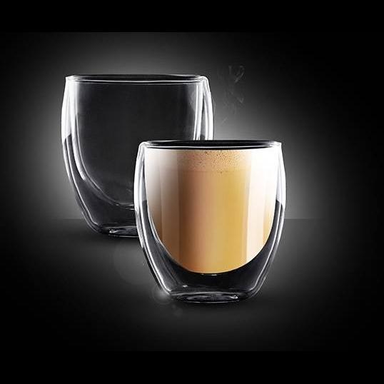 התמונה הראשית של סט 2 כוסות קאפוצ'ינו דאבל