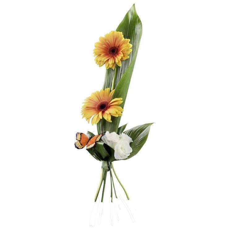 התמונה הראשית של זר פרחים אישי -הגשה פורחת