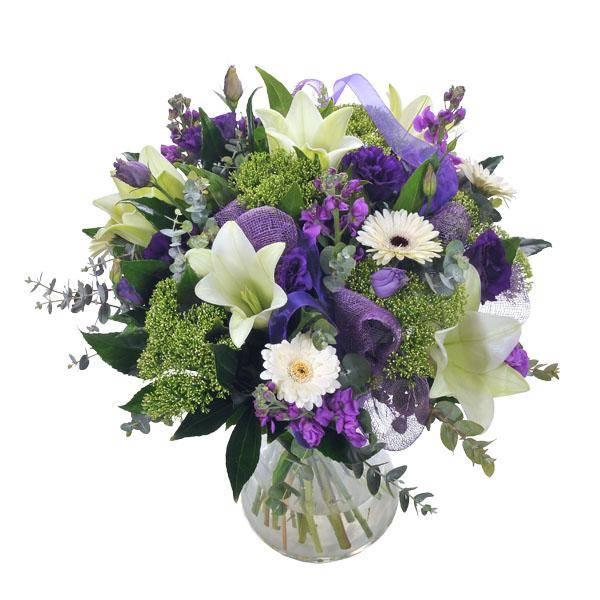 התמונה הראשית של זר פרחים -חלומות סגולים