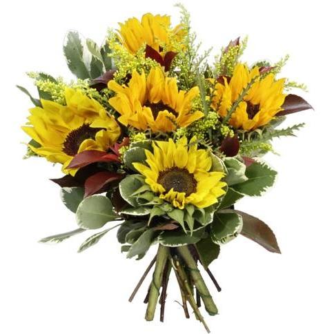 התמונה הראשית של זר פרחים אישי חמניות