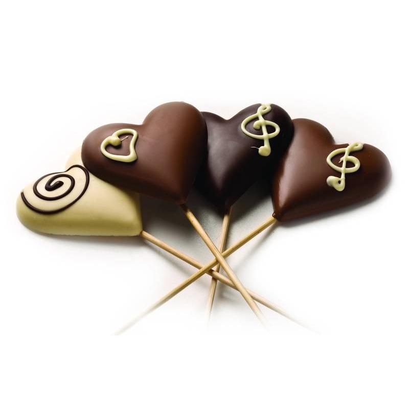 התמונה הראשית של יציקת שוקולד לב - גדול
