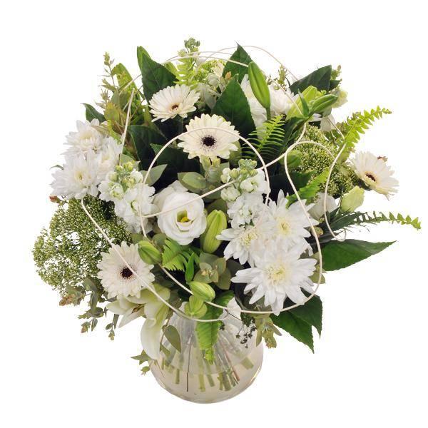 התמונה הראשית של זר פרחים -אור הלבנה