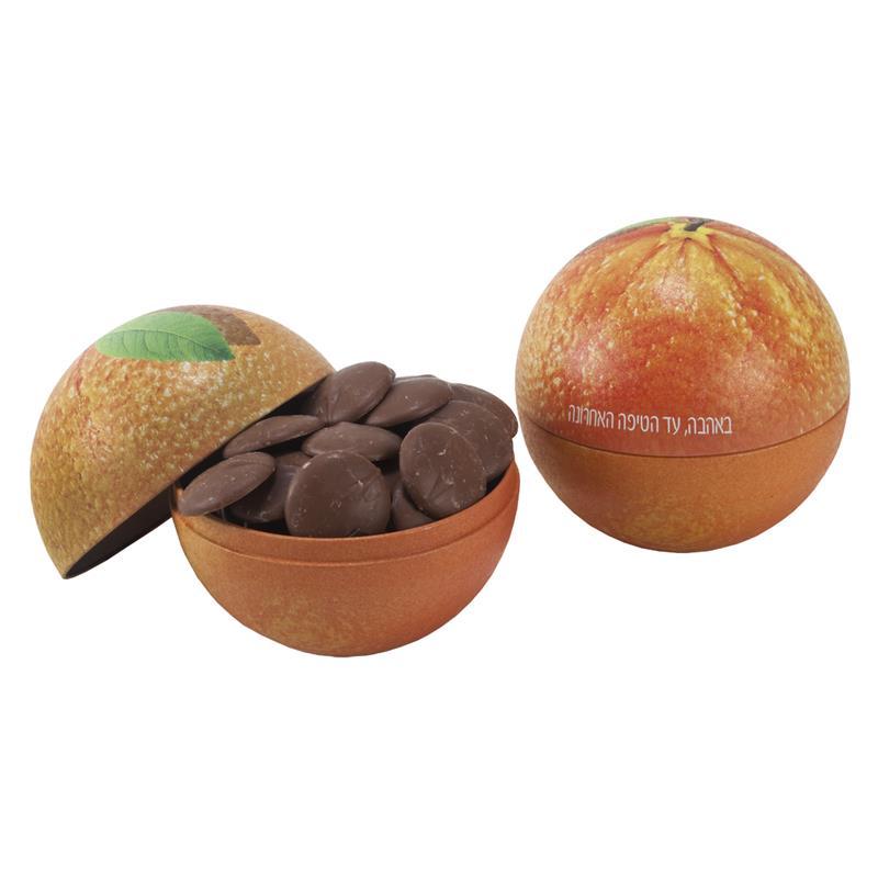 התמונה הראשית של שוקולד גורמה בכדור תפוז