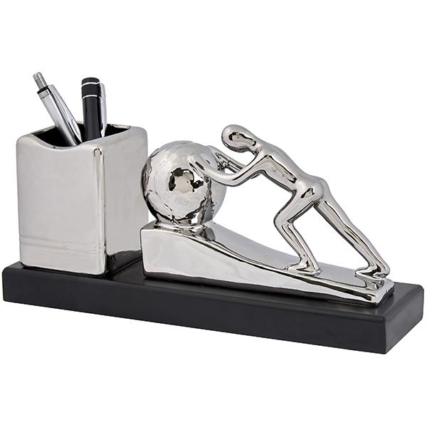 התמונה הראשית של מעמד שולחני מהודר כולל מתקן לעטים