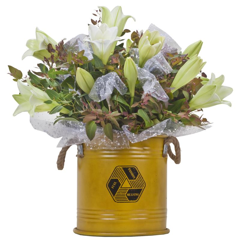 התמונה הראשית של זר פרחים - שושן צחור עם משמעות