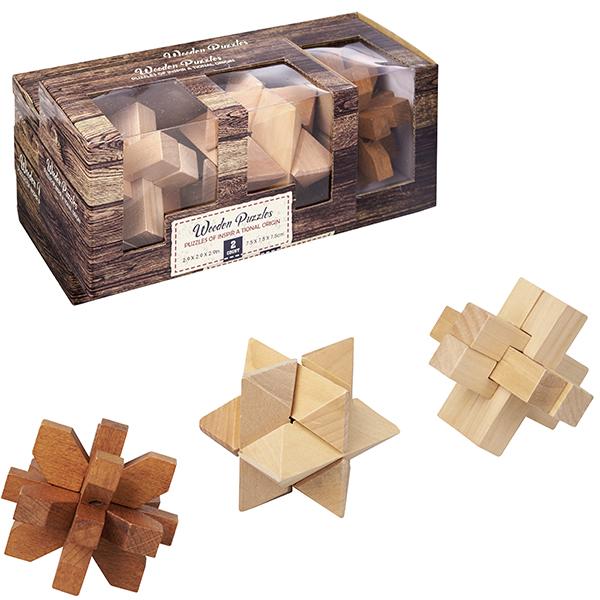 התמונה הראשית של 3 משחקי חשיבה במארז עץ