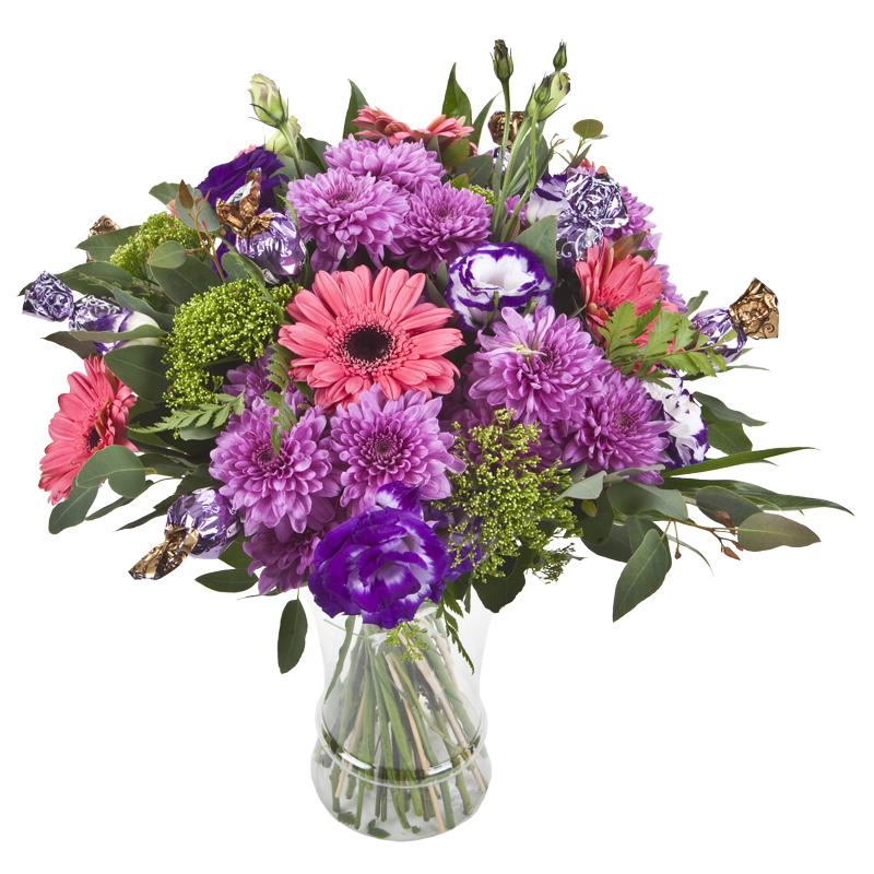 התמונה הראשית של זר פרחים - מתוק מתוק - בכלי