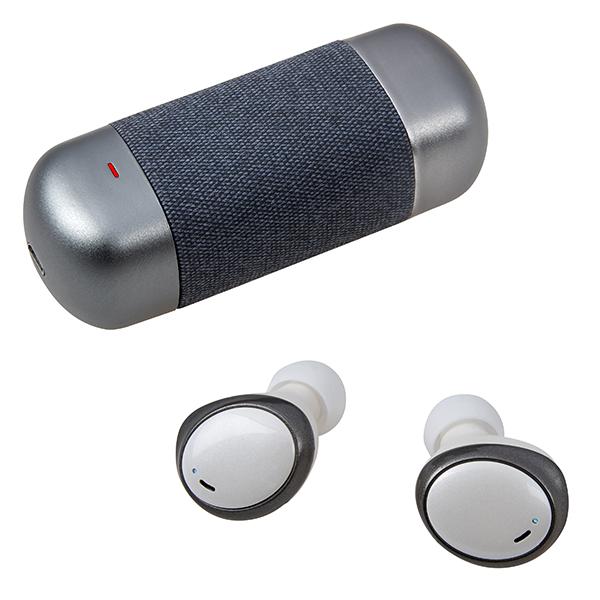 התמונה הראשית של אוזניות ear buds Bluetooth אלחוטיות עם בית טעינה