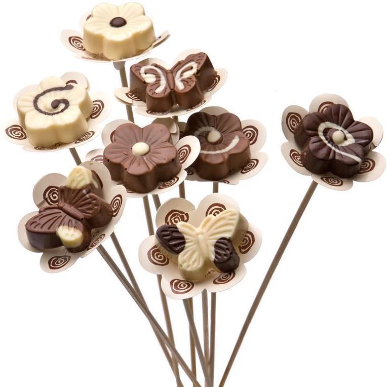 התמונה הראשית של יציקת פרח שוקולד