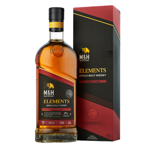 בקבוק וויסקי 700 מל Elements Sherry Cask - מזקקת M&H